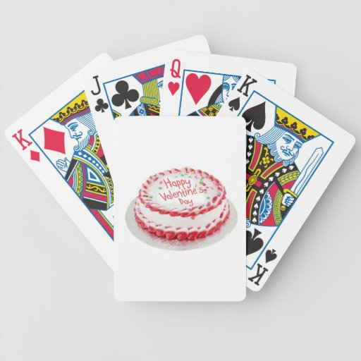 Happy Valentine's Day cake Bicycle Playing Cards