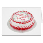 Happy Valentine's Day cake Greeting Card