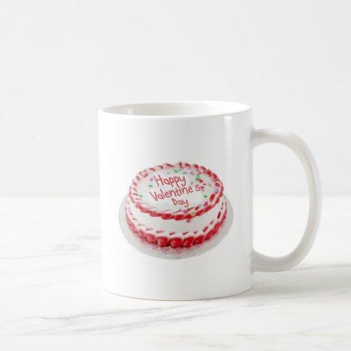 Happy Valentine's Day cake Classic White Coffee Mug