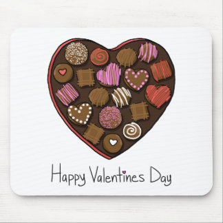 Happy Valentine's Day Candy Heart Mousepad