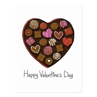 Happy Valentine's Day Candy Heart Postcard