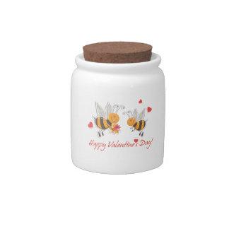 Happy Valentines Day Candy Jar