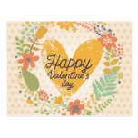 Happy Valentine's Day Card in Bright Colors Postcard