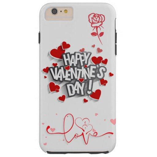 Happy Valentine's Day Tough iPhone 6 Plus Case