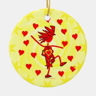 Happy Valentine's Day Ceramic Ornament