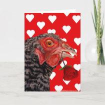 Happy Valentine's Day Chicken Holiday Card