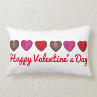 Happy Valentine's Day Chocolate Candy Heart Pillow