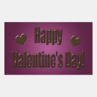 Happy Valentine's Day Chocolate Rectangular Sticker
