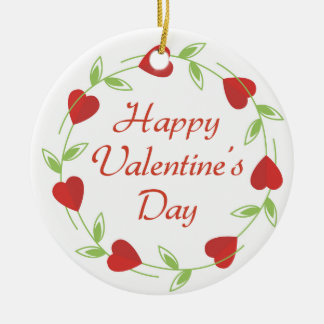 Happy Valentines Day Christmas Tree Ornaments