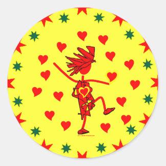 Happy Valentine's Day Classic Round Sticker