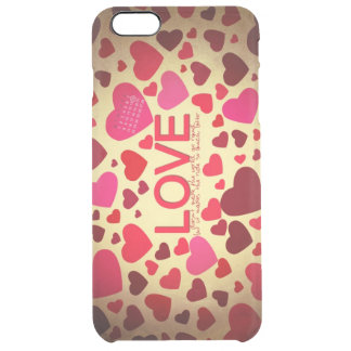 Happy Valentine's Day Clear iPhone 6 Plus Case