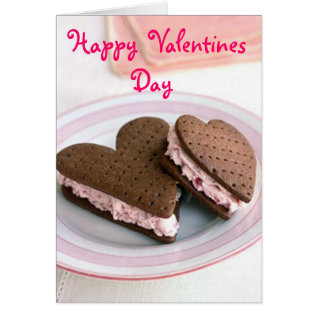 Happy Valentines Day Cookie Card at Zazzle
