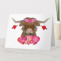 Happy Valentines Day Cow Card