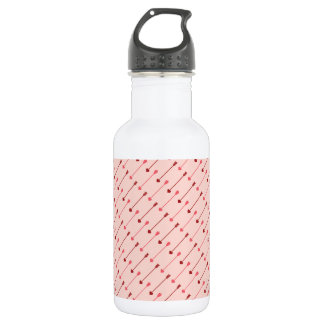 Happy Valentine's Day Cupid's Arrows Pink Red 18oz Water Bottle