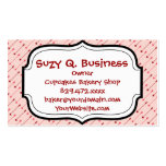 Happy Valentine's Day Cupid's Arrows Pink Red Double-Sided Standard Business Cards (Pack Of 100)