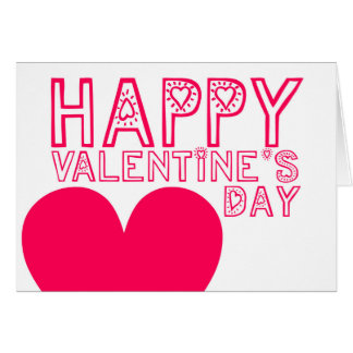 Happy Valentine's Day - Cute and Modern greeting Greeting Card