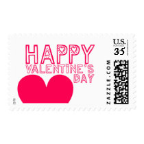 Happy Valentine's Day Cute and modern Postage