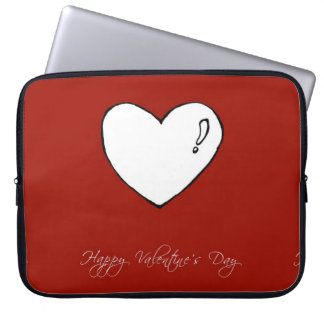 Happy Valentine's Day Cute Heart Computer Sleeve