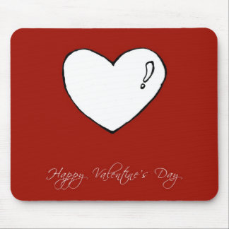 Happy Valentine's Day Cute Heart Mouse Pad