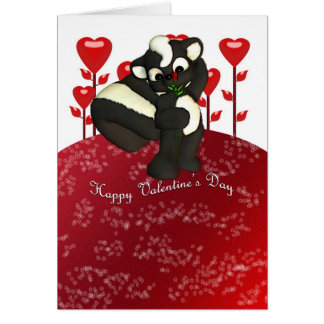 Happy Valentine's Day Cute Skunk Card