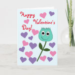 "[ Thumbnail: ""Happy Valentine's Day!"" + Cute Smiling Flower Card ]"
