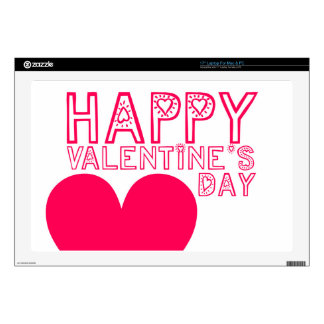 """Happy Valentine's day Cute typography Decal Decals For 17"""" Laptops"""