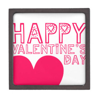 Happy Valentine's day Cute typography Gift Box