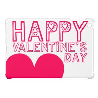 Happy Valentine's day Cute typography iPad Mini Cover