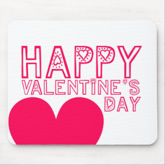 Happy Valentine's day Cute typography Mouse Pad