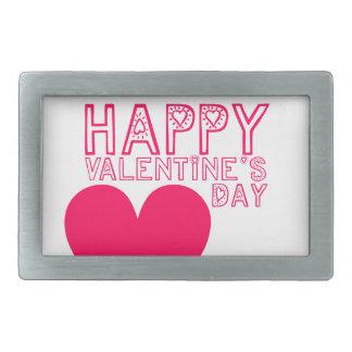 Happy Valentine's day Cute typography Rectangular Belt Buckle