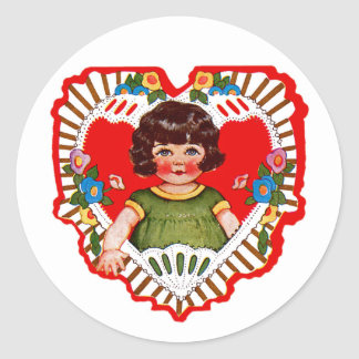 Happy Valentine's Day Cutie! Classic Round Sticker