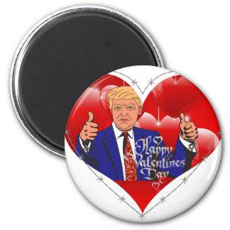 happy valentines day donald trump magnet