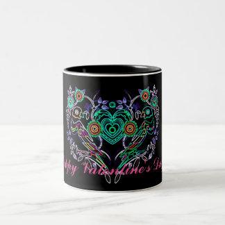 Happy Valentine's Day Doves Quote Mug Design