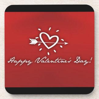 Happy Valentine's Day Drink Coaster