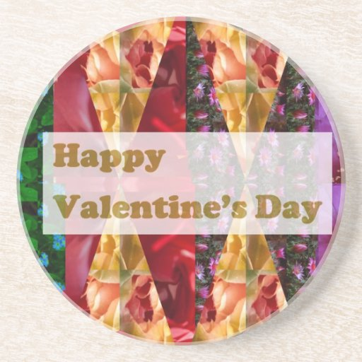 Happy VALENTINE'S DAY : Elegant Golden Script Coaster