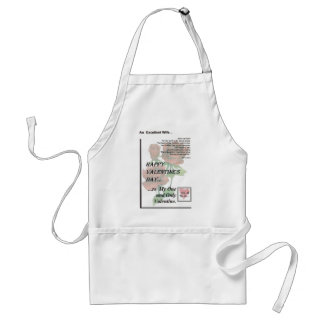 Happy Valentine's Day Excellent Wife Adult Apron