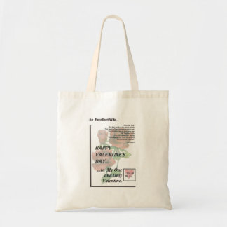 Happy Valentine's Day Excellent Wife Canvas Bags