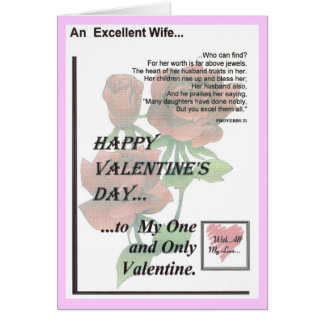 Happy Valentine's Day Excellent Wife Greeting Card