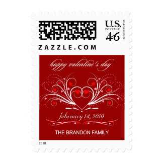 Happy Valentine's Day Fancy Hearts Postage