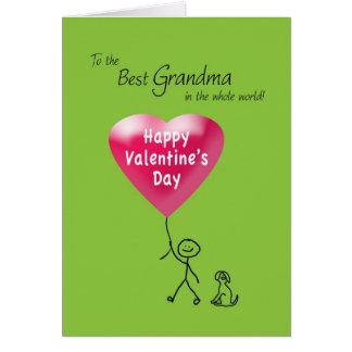 Happy Valentine's Day for Grandma Card