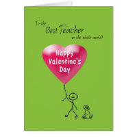 Happy Valentine's Day for Teacher Card