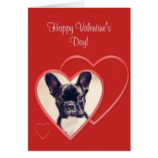 Happy Valentineu0026#39;s Day French Bulldog Card