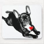 Happy Valentine's Day French Bulldog mousepad