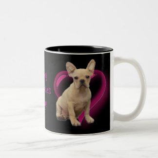 Happy Valentine's day french bulldog mug