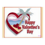 Happy Valentine's Day From Florida Postcard