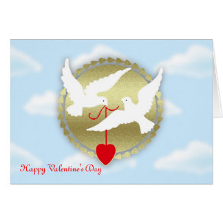 Happy Valentine's Day from secret admirer doves Card
