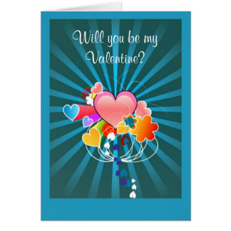 Happy Valentine's Day from secret admirer hearts Card