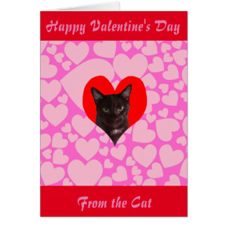 Happy Valentineu0026#39;s Day From The Cat (Black Cat) Card