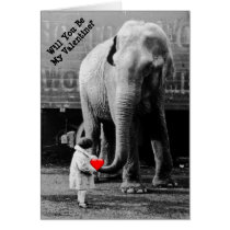 Happy Valentines Day Funny Elephant Valentine Card