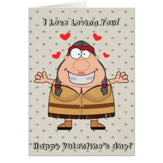 Happy Valentines Day Funny Indian Cartoon Card